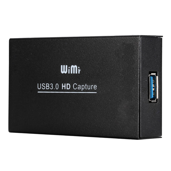 WIMI EC288 HDMI to USB3.0 Dongle, 1080P Drive-Free Video Capture Card Box for Windows Linux Os X System