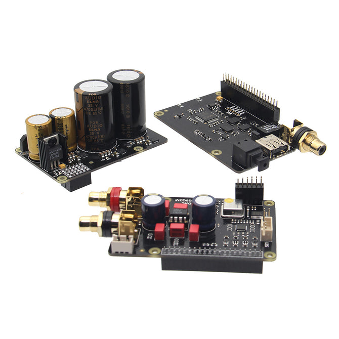 Geekworm Raspberry Pi X20 HiFi Audio Kit (X20 ES9028Q2M DAC Board + X10-I2S Board + X10-PWR Power Supply Board)