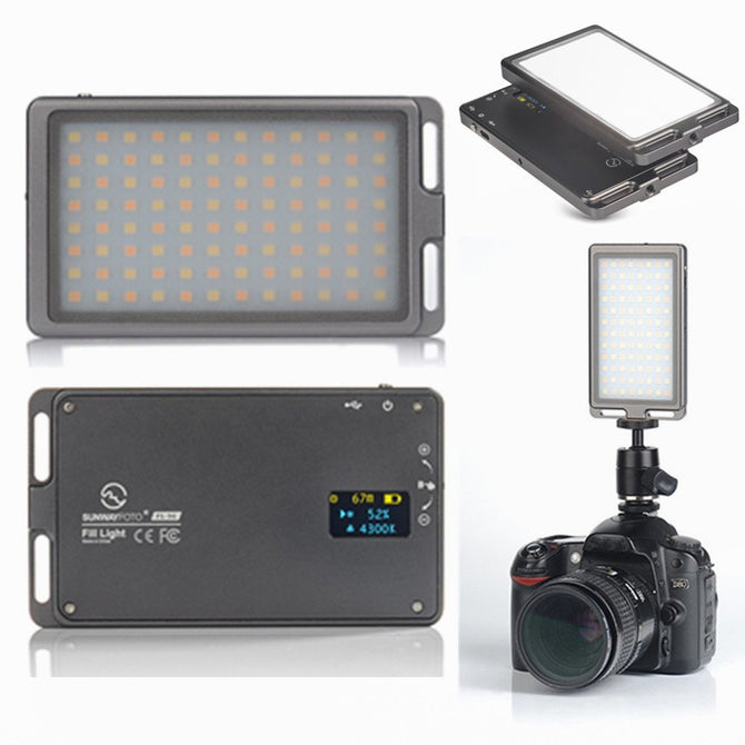 SUNWAYFOTO FL-96 Photography Fill Light w/ Stepless Digital Display Output Control, OLED Display Screen
