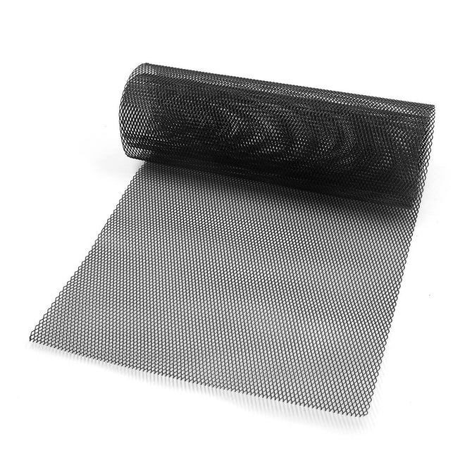 CARKING Car Vehicle Black Aluminum Alloy Rhombic Grille Mesh Sheet 3 x 6mm