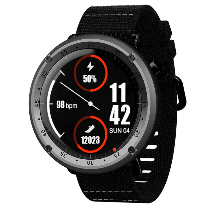 JSBP L19 GPS Smart Watch w/ Voice Call, Walking,Cycling,Running,Climbing,Football,Heartrate Monitor,Compass,Boold Pressure -Gray