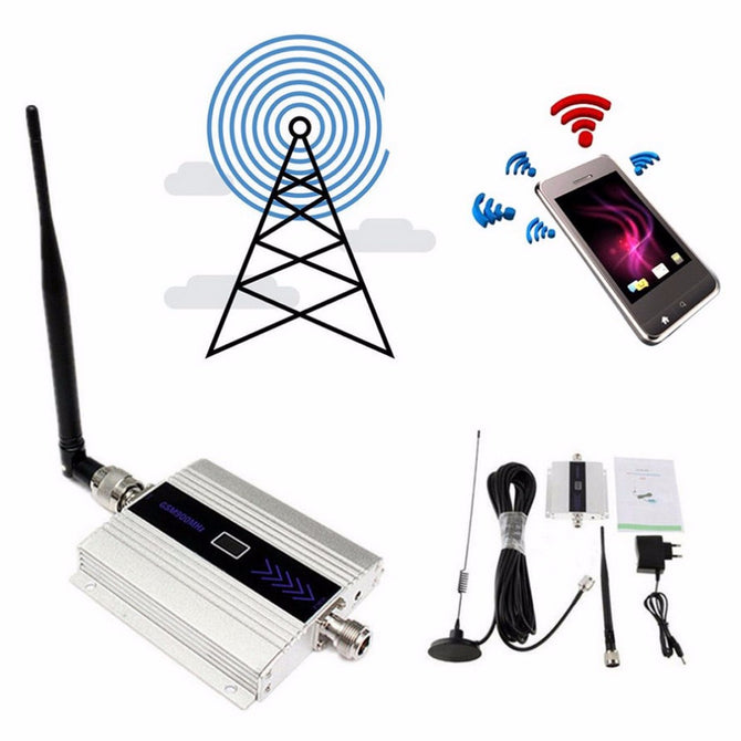 GSM 2G 900MHz Mobile Cell Phone Signal Amplifier Booster Repeater GSM 900mhz Celular Repeater Amplifier Wholesale EU Plug