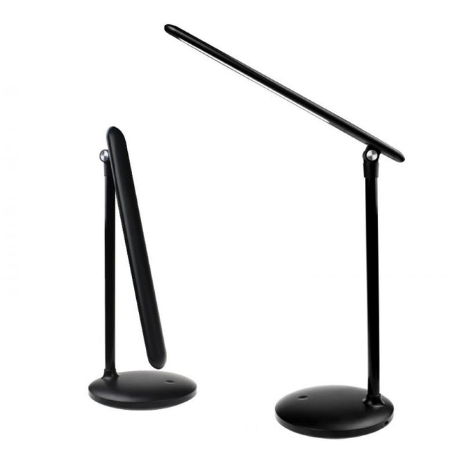 Foldable LED Stepless Dimming Table Light Desk Lamp Flexible Dimmer Bedroom Reading Study Eye Protection Night Light Black/Black/0-5W