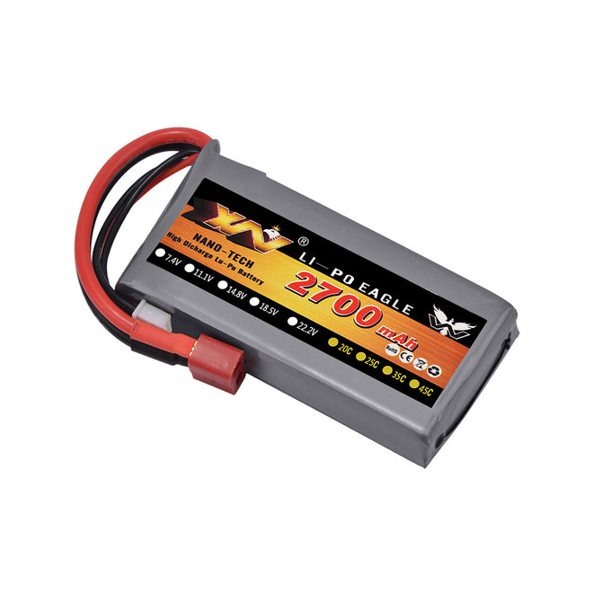 RC Lipo Battery 2S 7.4V 2700mah 20C Max 40C for Wltoys 12428 12423 1:12 RC Car Spare parts