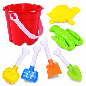 Kids Children Seaside Bucket Shovel Rake Kit Building Turtles / Lobsters Molds Funny Sand Water Beach Play Toys 7pcs/Set