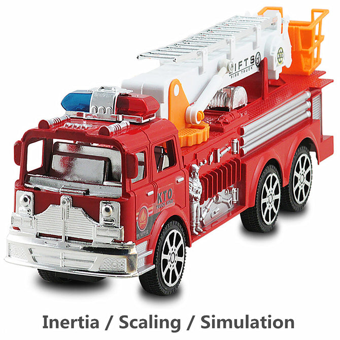 1:24 Large Children's Inertia Simulation Ladder Truck Fire Engine