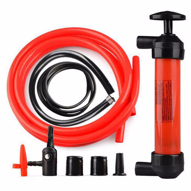 VODOOL 1pc Portable Manual Oil Pump Hand Siphon Tube Car Hose Liquid Gas Transfer Suction High Quality Inflatable Pump Black