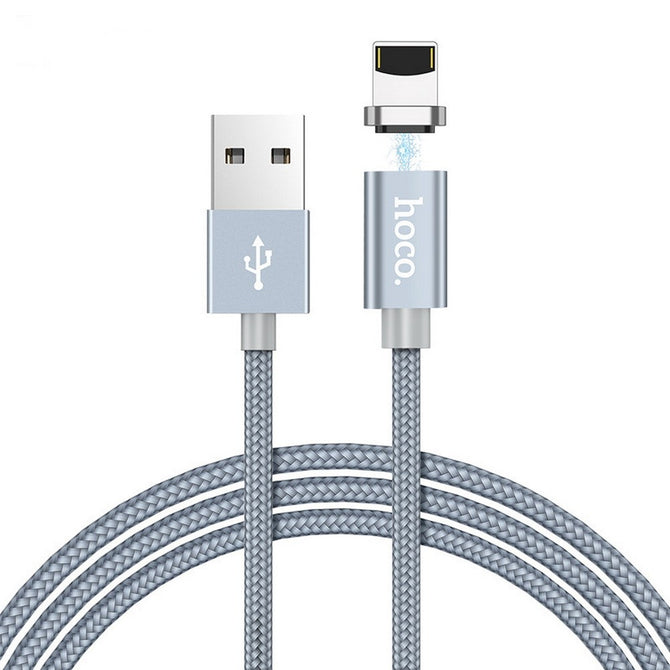 HOCO U40A Nylon Woven Charge Cords Micro Usb Cable Type-C For Android IPHONE Grey/apple