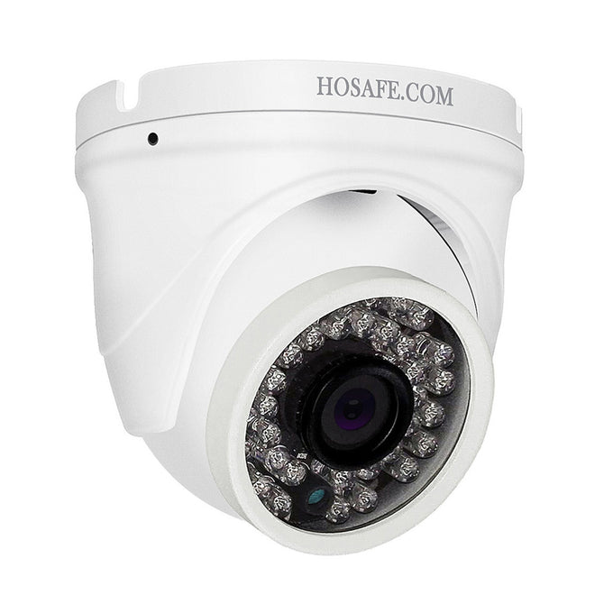 HOSAFE H2MD4A 1080P 2.0MP Outdoor Dome IP Camera with Audio, 50ft Night Vision, Motion Detection Alert - UK Plug