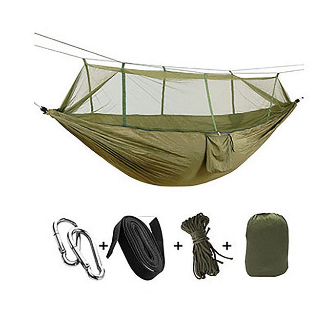 ESAMACT Outdoor Mosquito Net Hammock, Camping Picnic Hunting Swing Chair for Two Persons