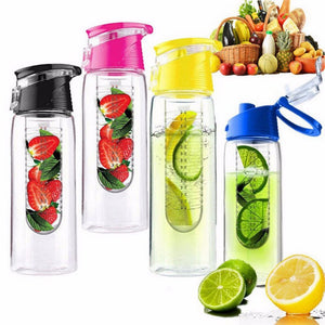 800 ML Portable Fruit Infusing Infuser Water Bottle Sports Lemon Juice Bottles Flip Lid For Kitchen Camping Travel 701-800ml/Yellow