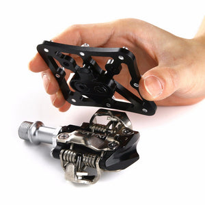 MTB Clipless Mountain Bike Pedal Lock Platform Adapters Quick Release Bicycle Pedal For SPD For SPEEDPLAY System Light Grey