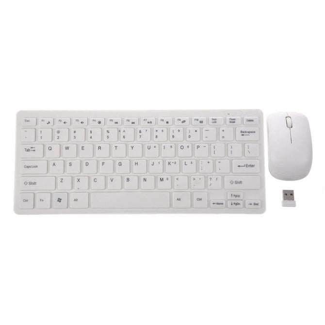 HXY-03 Ultra Thin Portable 2.4GHz Wireless Keyboard And Wireless Mouse Set For PC Computer White