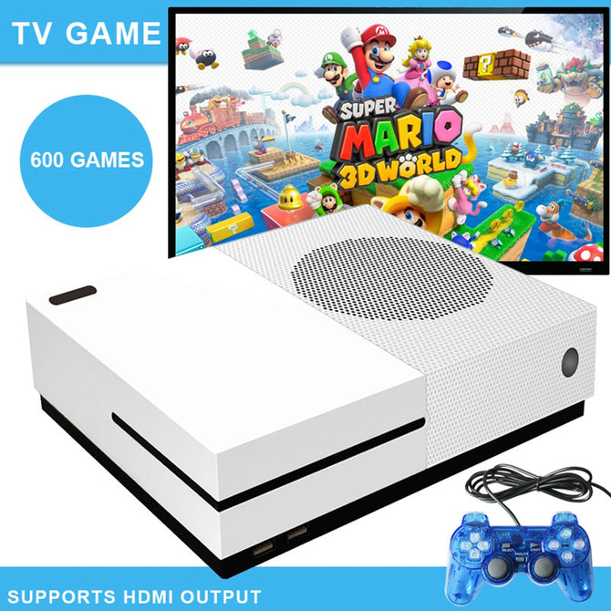 X GAME 64 Bit Retro Classic HD Video Game Console, HDMI Output Retro Game Player w/ Built-in 600 Games - US Plug