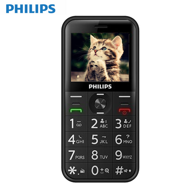 Philips E163K Dual SIM Long Standby Feature Phone With 24MB RAM, 32MB ROM, 1050mAh Battery - Black