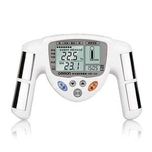 HBF-306 Digital LCD Display BMI Body Fat Measuring Instrument, Body Fat Monitor Caliper Tester Scale White