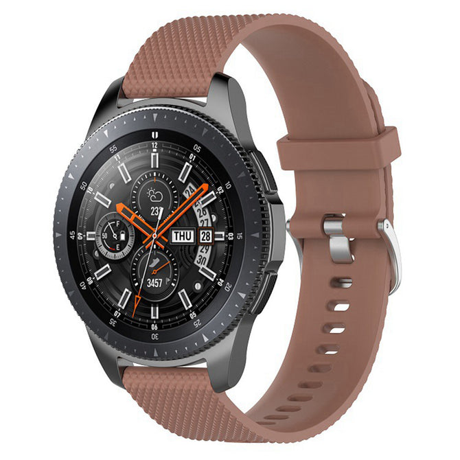 IMOS Replace Smart Watch Silicone Strap For Samsung Galaxy Watch 46mm / SM - R800 / SM - R805 - Coffee