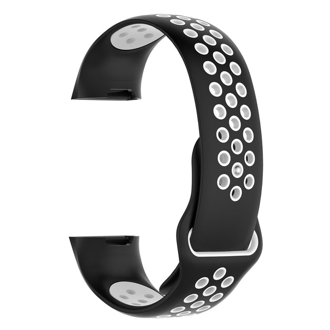IMOS Replace Smart Bracelet Color Mixing Strap For Fitbit Charge3 - Black + White
