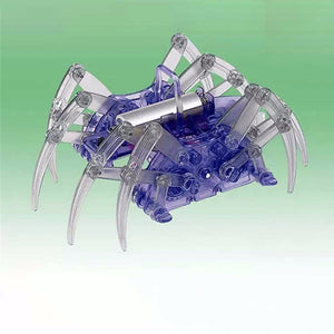 Electric Robot Spider Toy, DIY Assembly Educational Toy Kit For Kids, Christmas Halloween Birthday Gift Blue