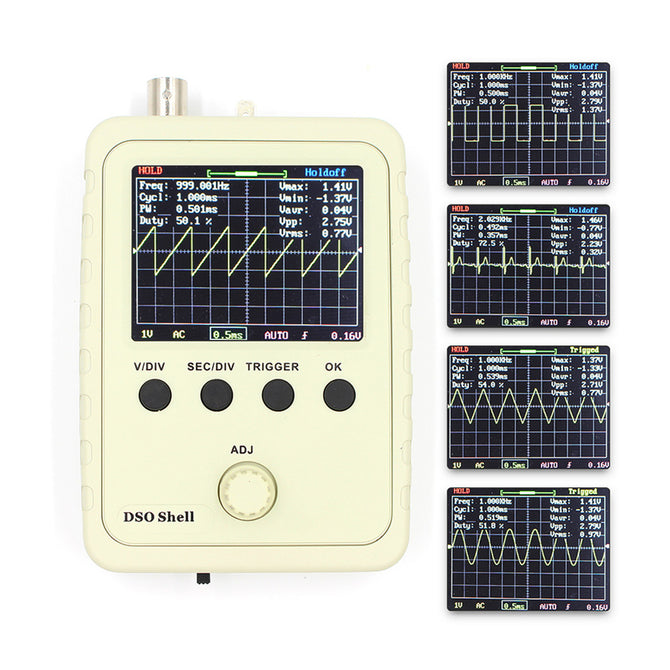 ZHAOYAO DSO Shell (DSO150) Digital Oscilloscope Kit with P6020 BNC Standard Probe