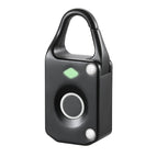 Portable Smart Fingerprint Padlock Biometric Lock Outdoor Security Padlock Rose Gold