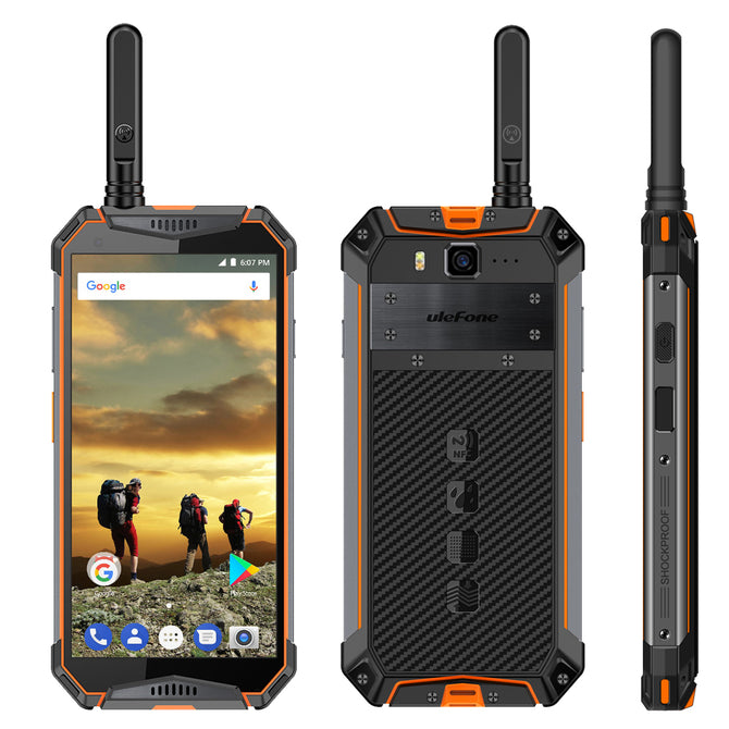 Ulefone Armor 3T Android 8.1 Waterproof 10300 mAh Global Version Walkie Talkie 4G Phone w/ 4GB RAM 64GB ROM - Orange(US Plug)
