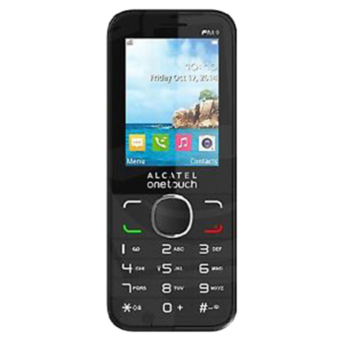 "Alcatel 2045x One Touch 2.4"" Feature Phone Standard SIM 64MB RAM 128MB ROM - Black"