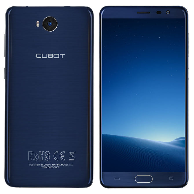 "CUBOT A5 Android 8.0 4G Phone w/ 5.5"", 3GB RAM, 32GB ROM - Blue"