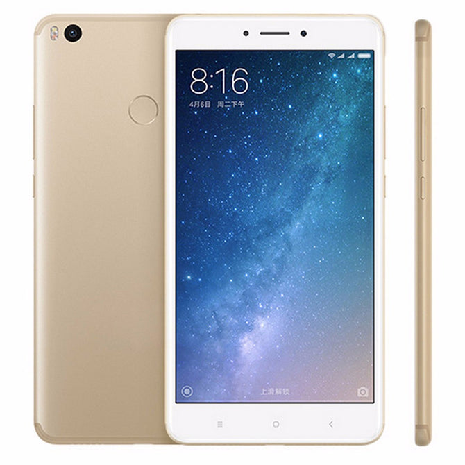 "Original Xiaomi Mi Max 2 6.44"" Octa-Core Andriod 7.0 Smart Phone with 4GB RAM 128GB ROM, 5300mAh Battery, 12MP Camera Gold/128GB"