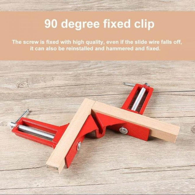 90 Degree Right Angle Clip Picture Frame Fish Tank Woodwork Corner Clamp Fixed Clip Aluminium Alloy Woodworking Hand Tool 4PCS 4pcs