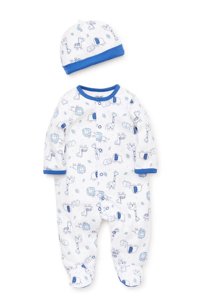 Little Me Blue Safari Onesie & Hat