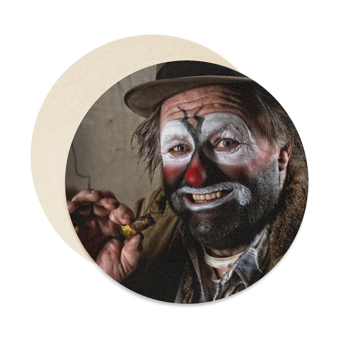 Clown (Have Fun), Round Paper Coaster Set - 6pcs