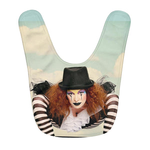 Koltz pretzel clown Fleece Baby Bib