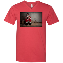 Load image into Gallery viewer, 982 Anvil Men's Printed V-Neck T-Shirt