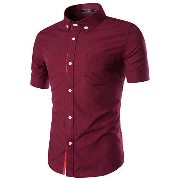 Summer Men's Short Sleeve Dress Shirt