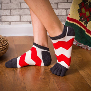 Candy Color Toe Ankle Socks