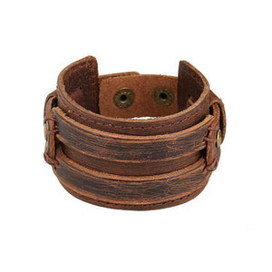 Punk Leather Bracelet