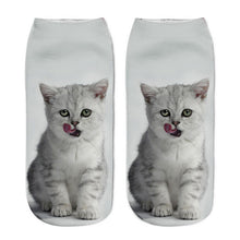 Cat Printed Ankle Socks