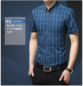 Short Sleeve Slim Fit Dress Shirt
