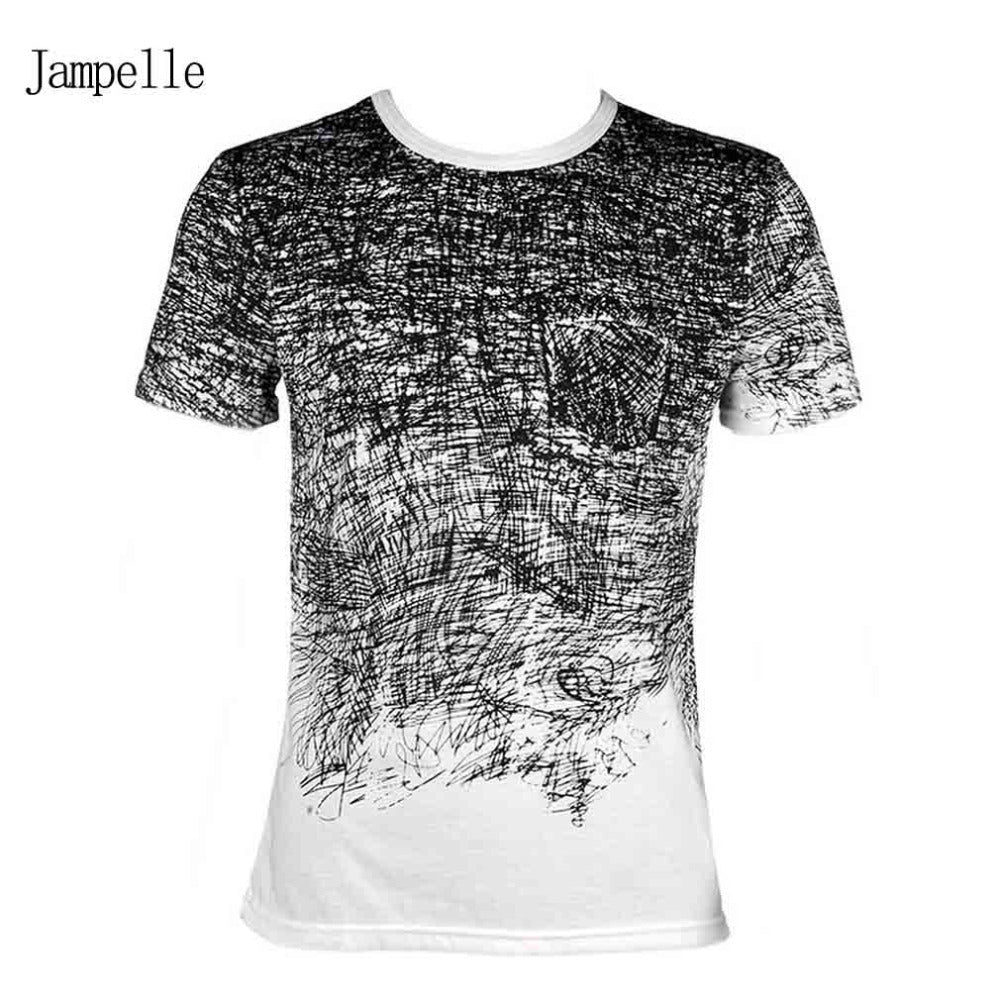 Black and White Pattern T-shirt