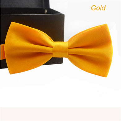 Adjustable Plain Color Bow-tie