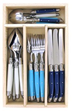 Laguiole Cutlery Set - Beach 24pc - Wooden Box