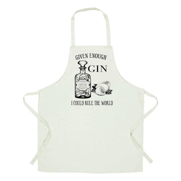 Apron given enough gin