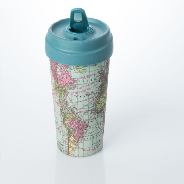 ChicMic Bamboo Travel Mug 400ml - Around The World