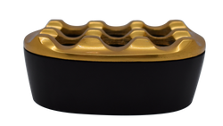 Ashtray Dunes Oval Matt Black & Brass