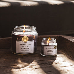 Black Ribbon Jar Candle - Pepper Noir