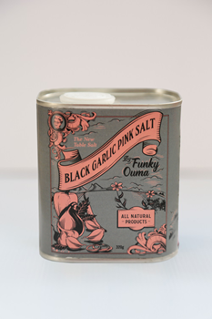 Black Garlic Pink Salt in Tin - 250ml