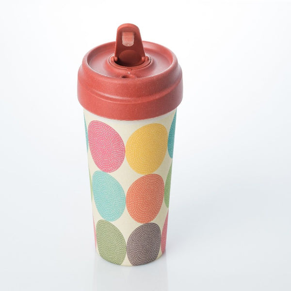 ChicMic Bamboo Travel Mug 400ml - Bright Circles