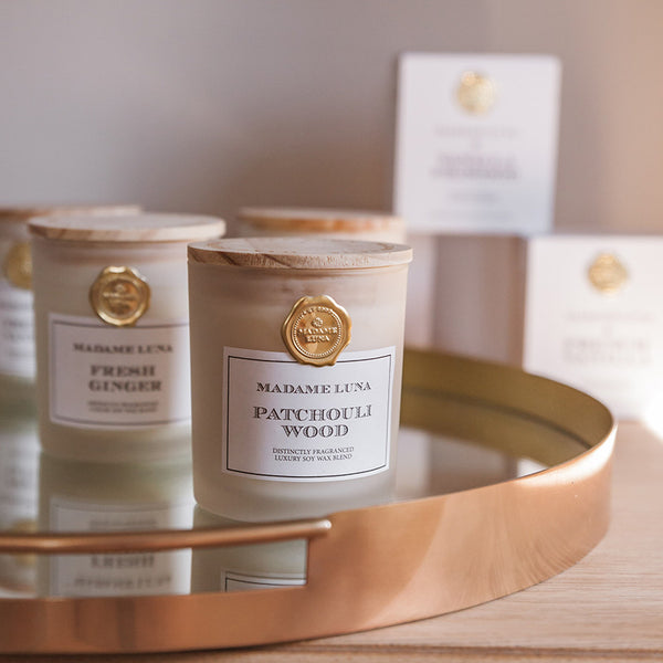 Classic Signature Gold Stamp - Patchouli Wood