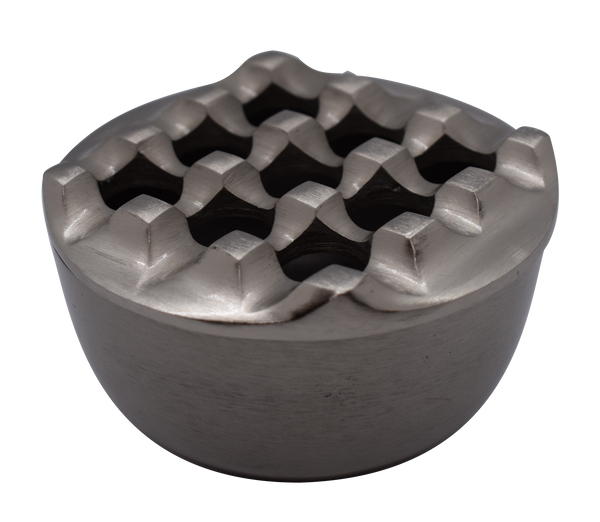 Ashtray Dunes Round Pewter